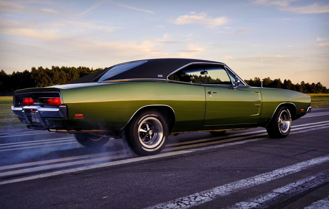 Photo wallpaper dodge, muscle car, charger