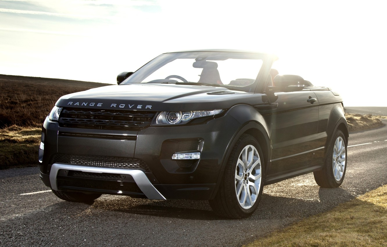 Photo wallpaper road, the sky, concept, the concept, convertible, land rover, range rover, convertible, the front, crossover, …