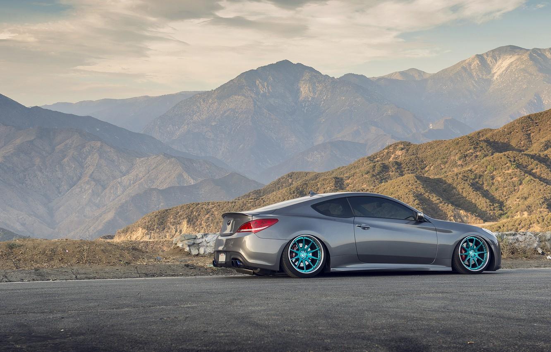 Photo wallpaper tuning, Hyundai, Coupe, stance, Genesis, Hyundai
