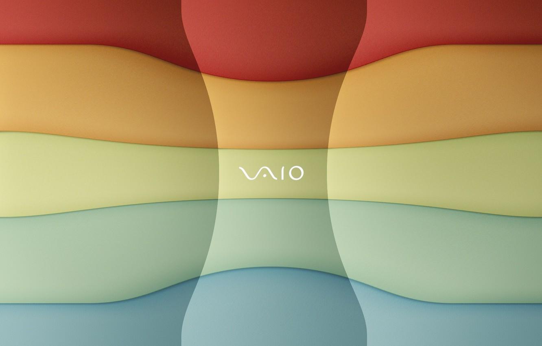 Photo wallpaper logo, mark, Smooth, VAIO