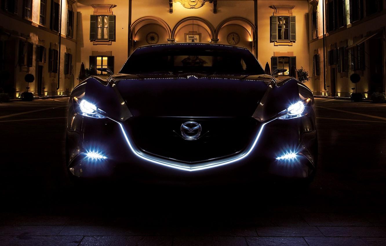 Photo wallpaper light, night, lights, Mazda, Mazda Shinari Concept 2011, night light