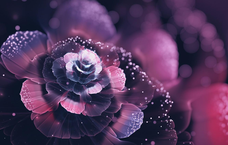 Photo wallpaper flower, abstraction, beauty, petals