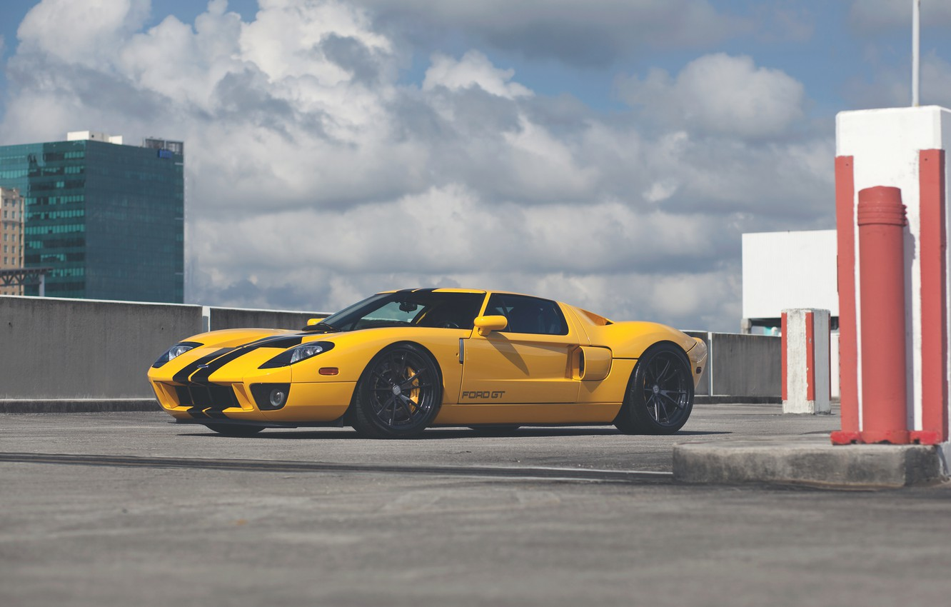 Photo wallpaper Ford, YELLOW, HRE, S104