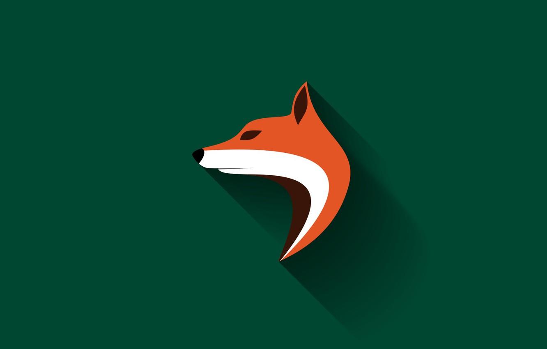 Photo wallpaper vector, Fox, Fox, long shadow