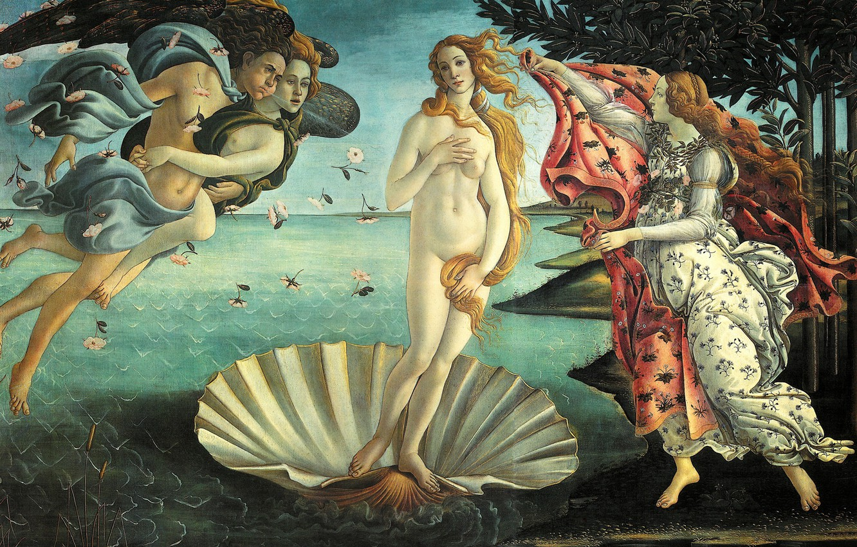 Photo wallpaper picture, The Birth Of Venus, mythology, Sandro Botticelli