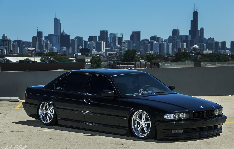 Photo wallpaper BMW, Boomer, Chicago, BMW, USA, Chicago, tuning, Stance, E38