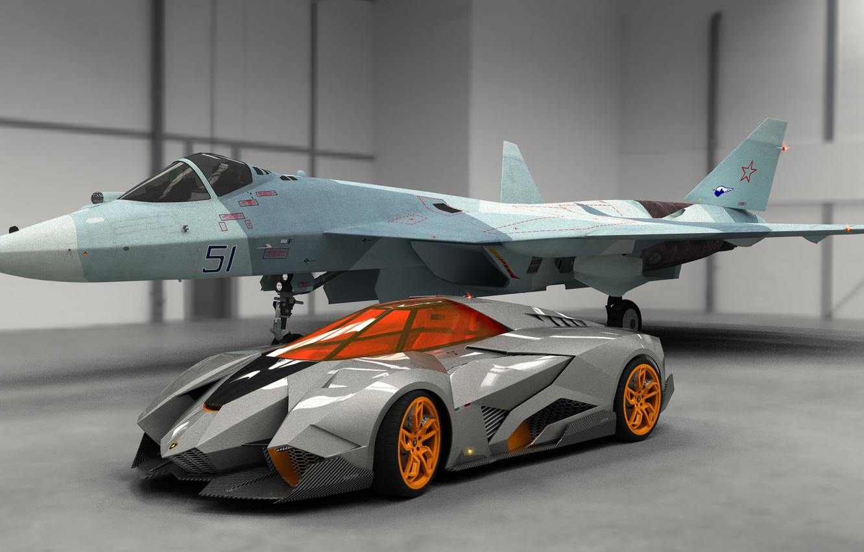 Photo wallpaper Concept, Auto, Lamborghini, Fighter, Car, 2013, Egoista
