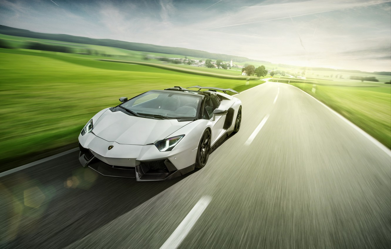 Photo wallpaper Roadster, Lamborghini, LP700-4, Aventador, LB834, Novitec Torado