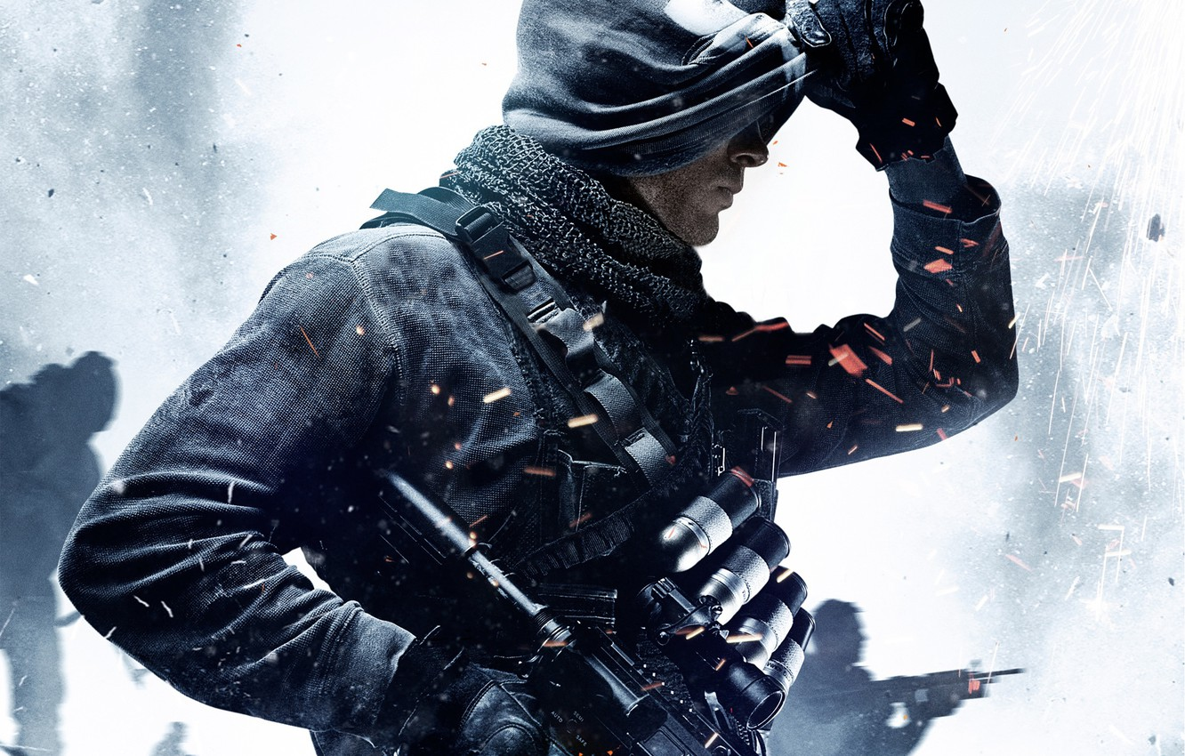 Photo wallpaper Soldiers, Weapons, Mask, Military, Activision, Equipment, Infinity Ward, Call of Duty: Ghosts, Call of duty: …