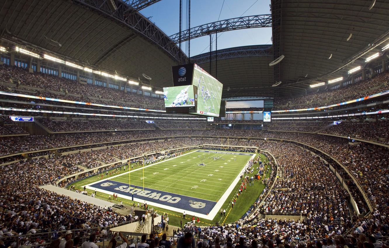 Photo wallpaper football, stadium, fans, Texas, stadium, the audience, america, football, dallas, nfl, Dallas, cowboys, cowboys, texas