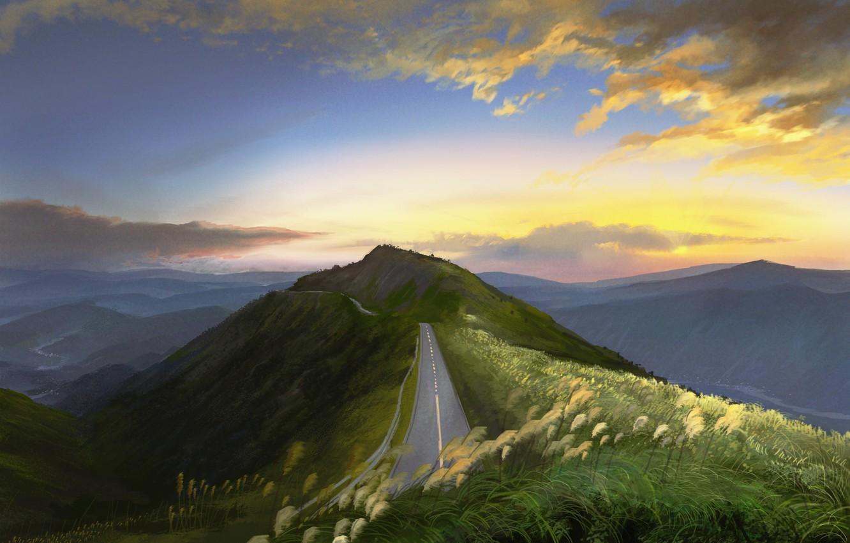 Photo wallpaper road, nature, dal