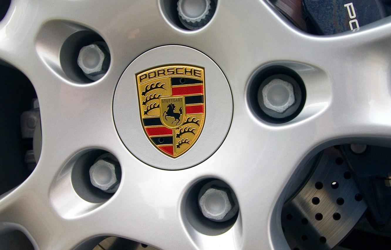 Photo wallpaper Logo, Porsche, The hood