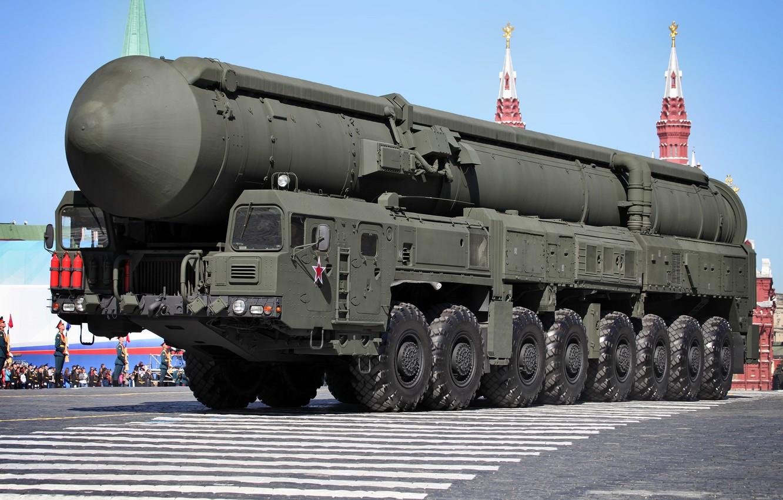 Photo wallpaper May 9, rocket, complex, purpose, Topol-M, Victory Parade, strategic, SRF, Red Square