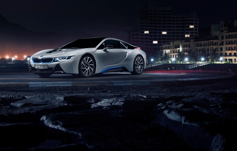 Photo wallpaper BMW, white