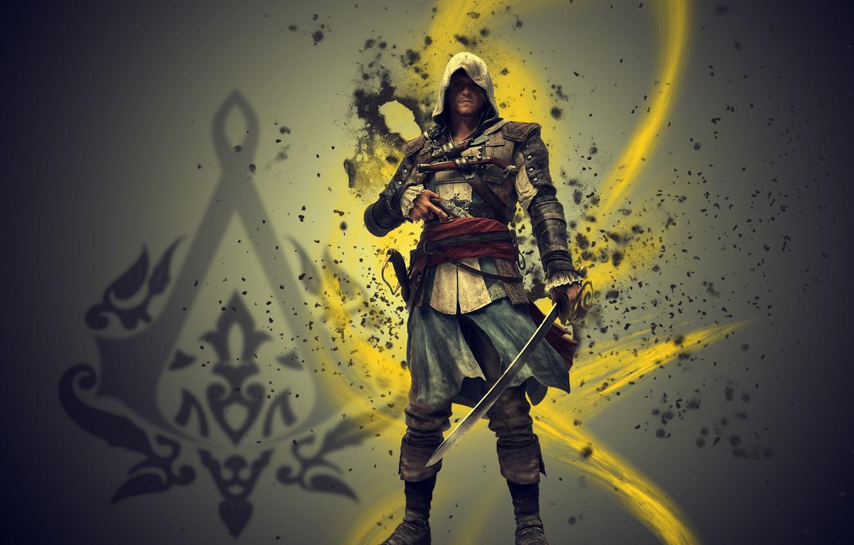 Photo wallpaper assassin, edvard kenway, assassins creed 4 black flag, Edward kenway