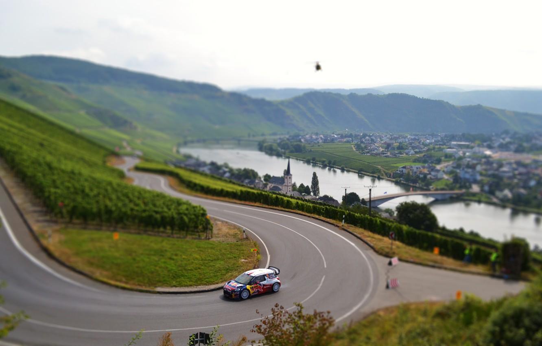 Photo wallpaper Auto, Road, Sport, Machine, Turn, Race, Asphalt, Citroen, Day, Citroen, DS3, WRC, Rally, Rally