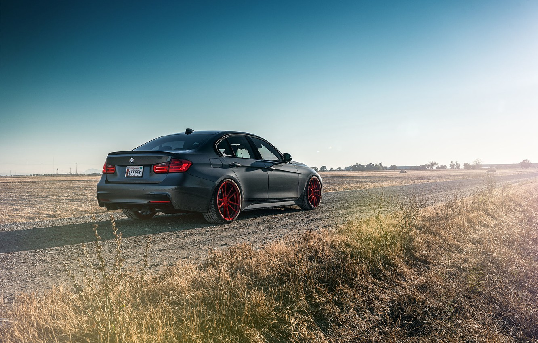 Photo wallpaper BMW, German, Car, 335i, Sport, Road, Rear, F80