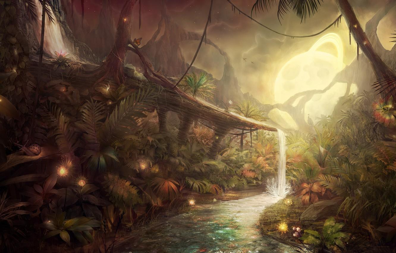 Wallpaper Trees Stream Planet Snail Jungle Avatar