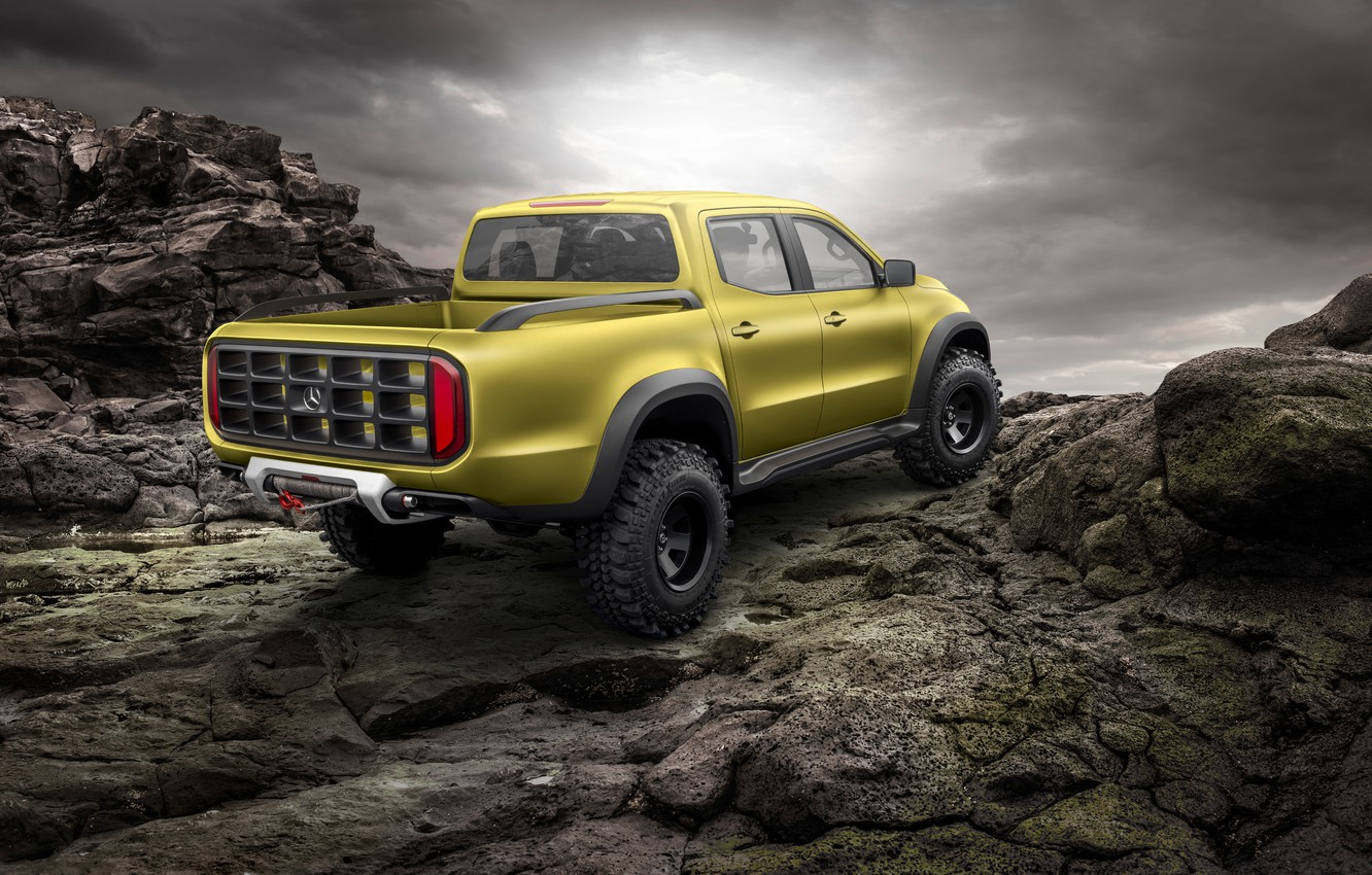 Photo wallpaper the concept, Mercedes - Benz, Mercedes-Benz, 2016, X-Class, off-road pickup truck, Powerful Adventurer