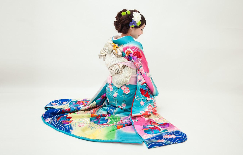 Photo wallpaper girl, Japan, kimono