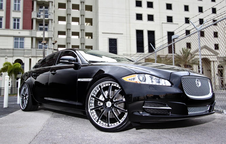Photo wallpaper black, tuning, Jaguar, Jaguar, black, tuning, XJL