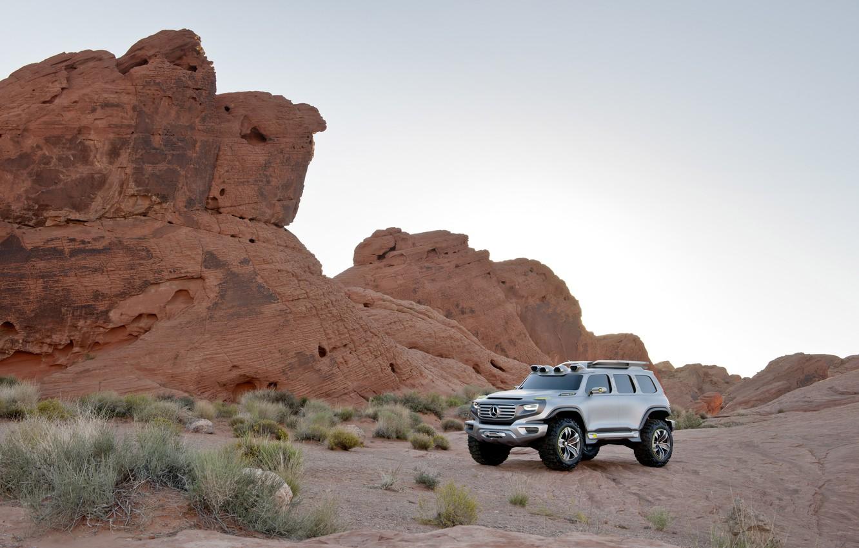 Photo wallpaper Concept, Desert, Day, Mercedes Benz, Force, Matt, Ener-g