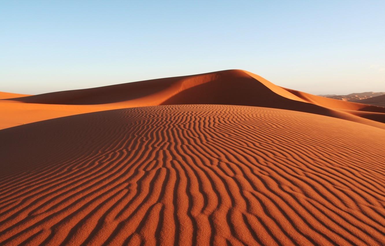 Photo wallpaper sand, summer, the sky, desert, heat, desert summer