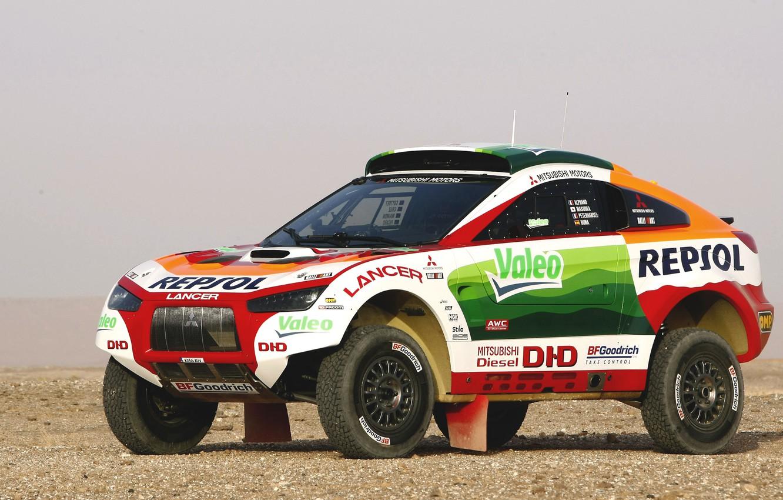 Photo wallpaper Auto, Wheel, Sport, Desert, Machine, Race, Mitsubishi, Mitsubishi, Jeep, Heat, Rally, Dakar, Dakar, SUV, Rally, …