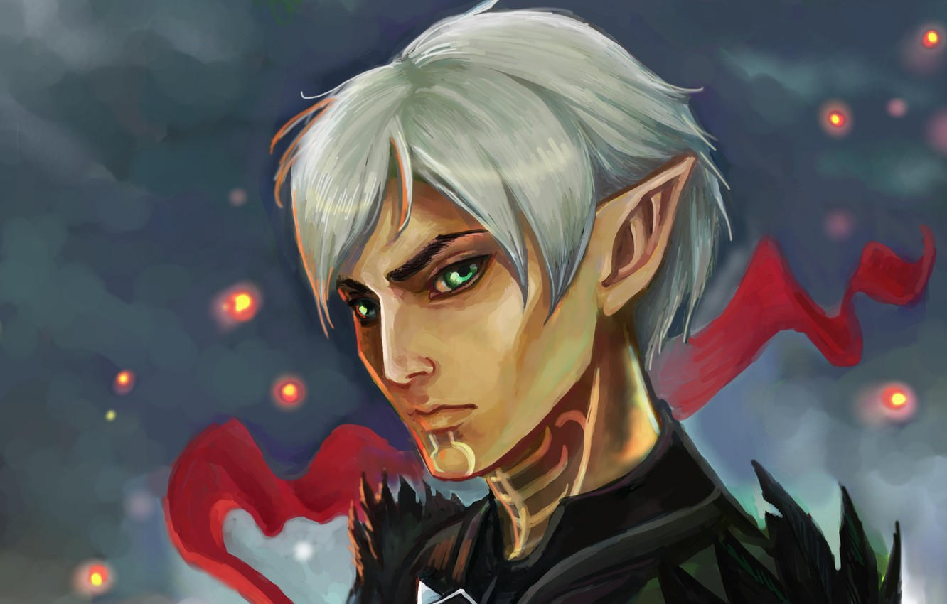 Wallpaper Look Elf Art Ears Dragon Age 2 Fenris Images For