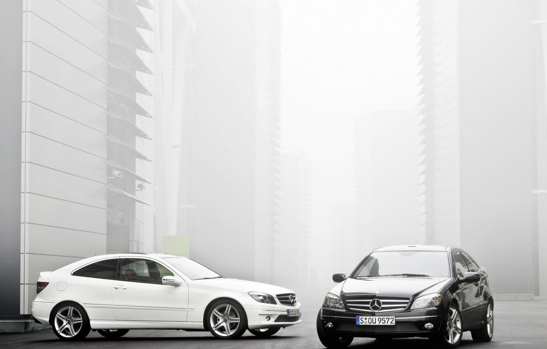 Photo wallpaper Mercedes, white, black