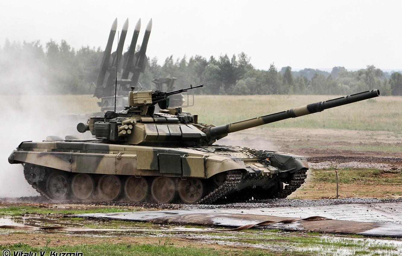 Photo wallpaper rocket, tank, Russia, T-90