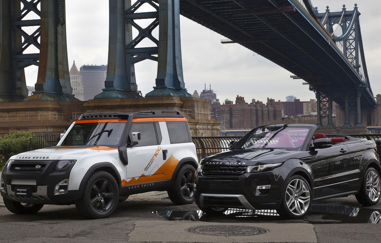 Photo wallpaper bridge, concept, jeep, SUV, the concept, convertible, land rover, range rover, convertible, and, crossover, Ewok, …