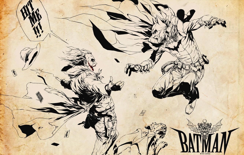 Photo wallpaper batman, Joker, Batman, comics, jocker