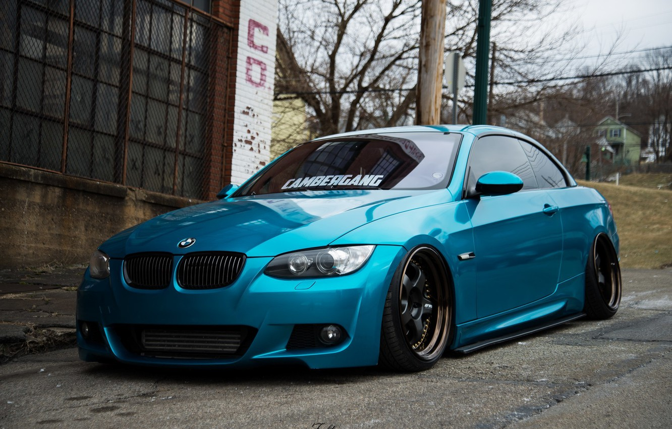 Photo wallpaper bmw, turbo, tuning, power, germany, low, e92, stance