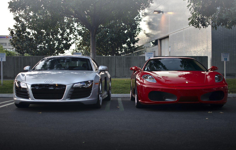 Photo wallpaper Audi, ferrari, f430
