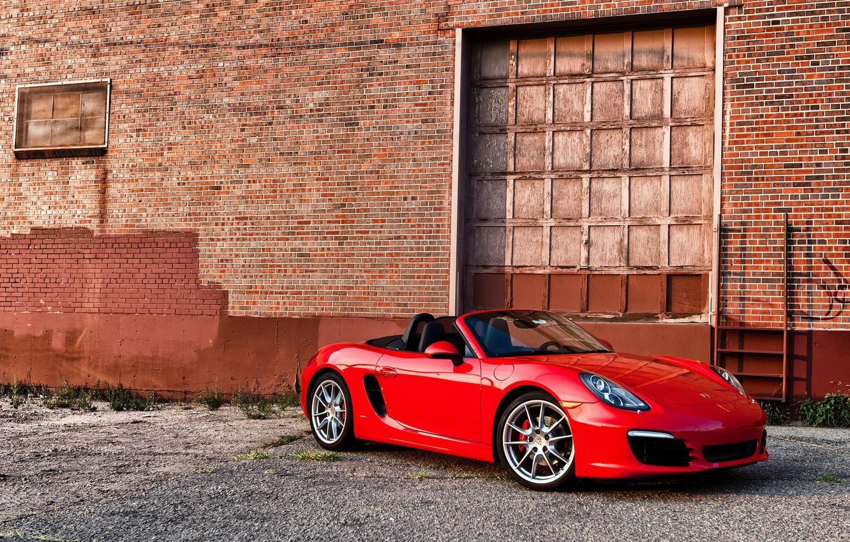 Photo wallpaper red, 911, Porsche, convertible, Porsche, Cayman S