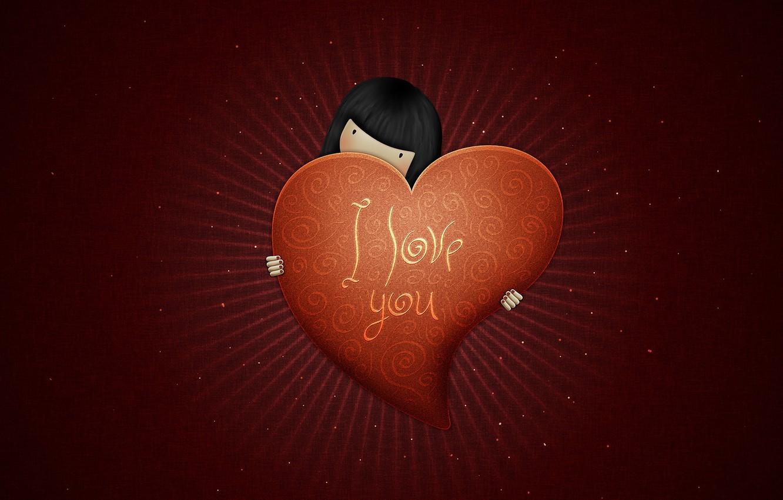 Photo wallpaper love, style, heart, figure, vlad