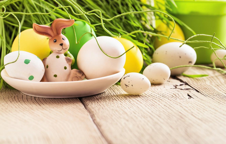 Photo wallpaper grass, flowers, eggs, spring, Easter, flowers, spring, Easter, eggs, decoration, Happy