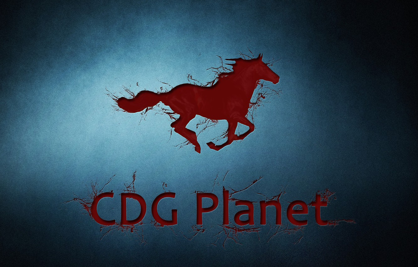 Photo wallpaper game, horse, company, CDG Planet