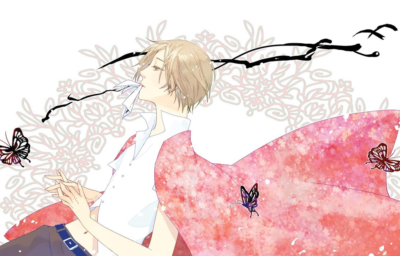 Photo wallpaper art, guy, Natsume Yuujinchou, Natsume