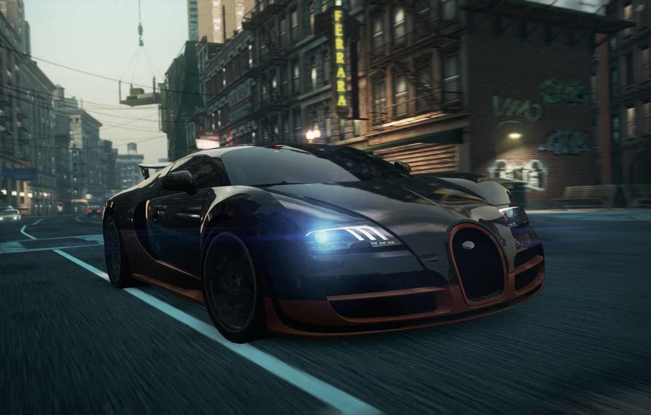 Photo wallpaper Bugatti, Veyron, 2012, Need for Speed, nfs, Most Wanted, NSF, NFSMW