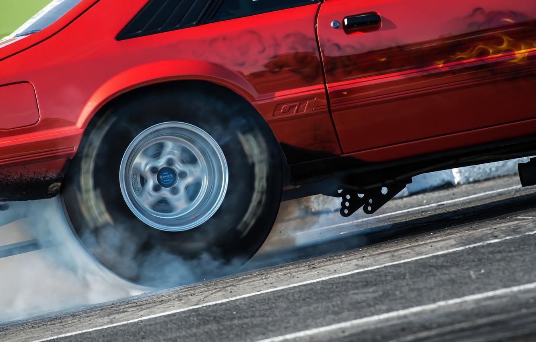 Photo wallpaper race, smoke, wheel, muscle car, drag racing
