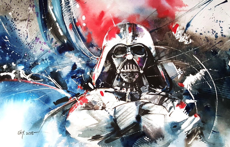 Wallpaper Pose Paint Figure Hands Helmet Star Wars Darth Vader Images For Desktop Section Abstrakcii Download