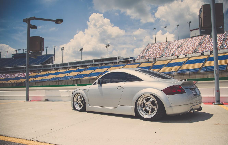Photo wallpaper Audi, Audi, profile, sports car, silver, stance