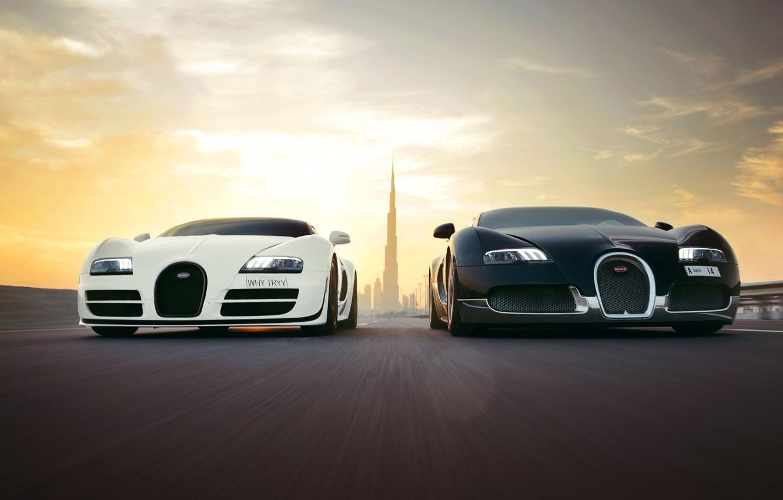 Photo wallpaper veyron, bugatti, dubai, supersport