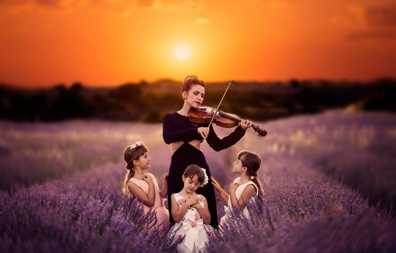 Wallpaper Sunset Music Lavender Images For Desktop Section Nastroeniya Download