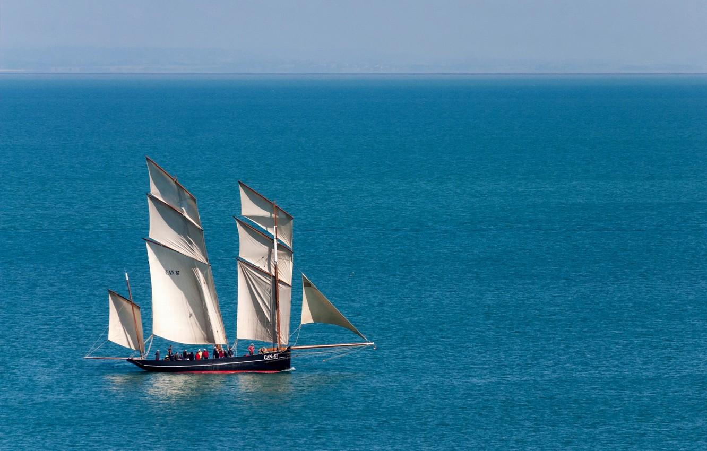 Photo wallpaper sea, sailboat, lugger, The Cancalaise