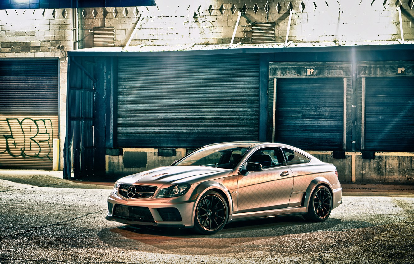 Photo wallpaper Mercedes-Benz, Coupe, C63 AMG, Black Series