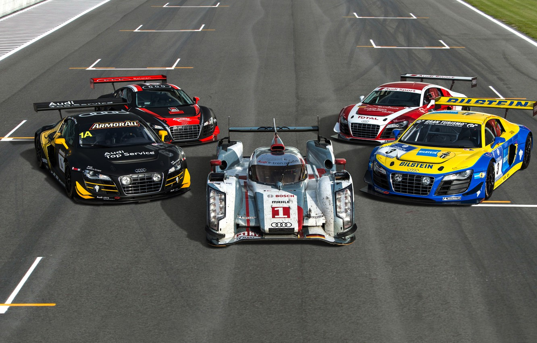 Photo wallpaper Audi, Machine, Sports car, King of Endurance Racing