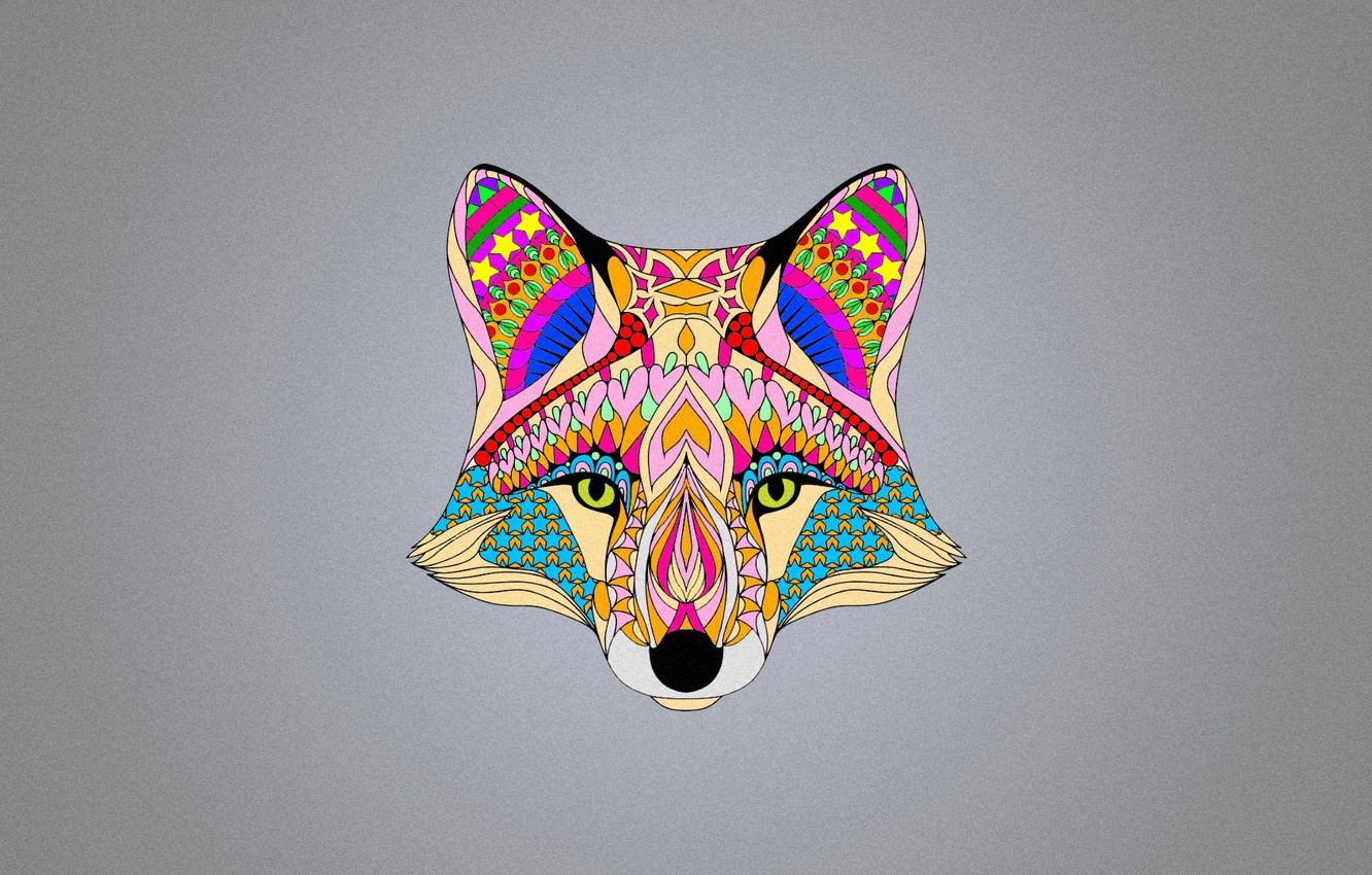 Photo wallpaper color, abstraction, background, Fox, fox